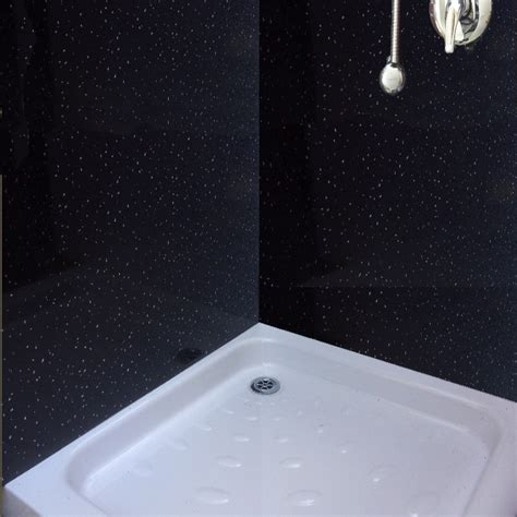sparkle effect bathroom cladding from the bathroom marquee