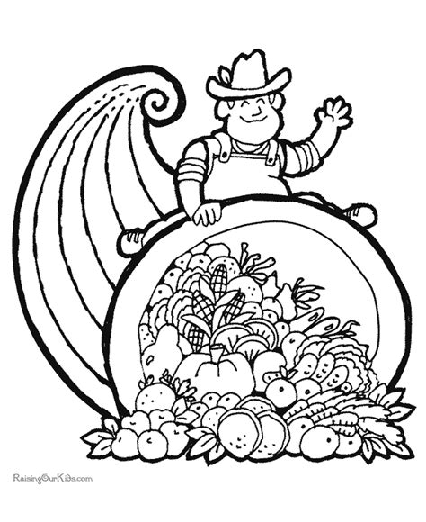 cornucopia coloring pages preschool free coloring pages of cornucopia