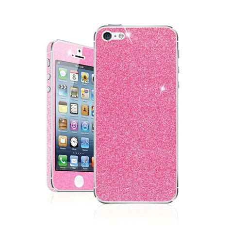 Sticker Glitter Iphone 5 5s skin para iphone 5s se glitter skin fushia sanborns