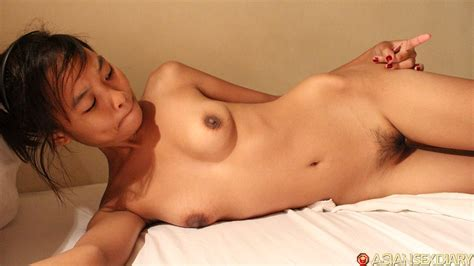 Asian Sex Diary Petite Thai With Tiny Tits And Hairy Pussy Gives Boomboom