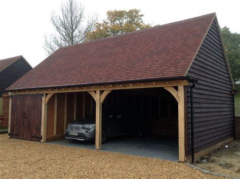 Oak Framed Car Port by Oak Framed Garages In Oxfordshire Hshire Berkshire