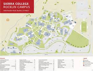 where is rocklin ca on a map of california college rocklin cus map images