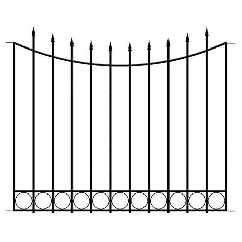 hampton bay beaumont  ft   ft black steel  rail