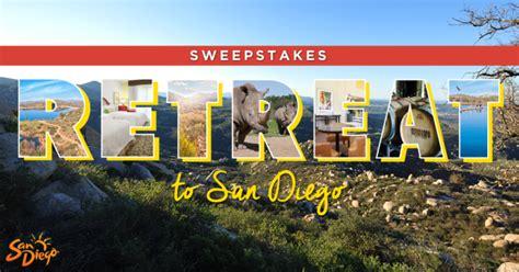 San Diego Sweepstakes - enter the retreat to san diego sweepstakes