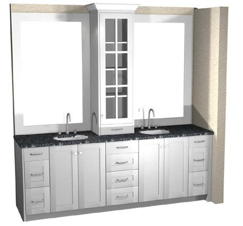 Master Vanity with Upper Cabinet Layout Tutorial