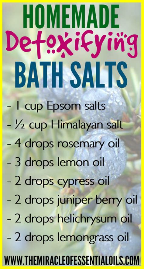 Detox Bath Recipes Without Epsom Salt by Diy Epsom Salt Essential Detox Bath Recipe The