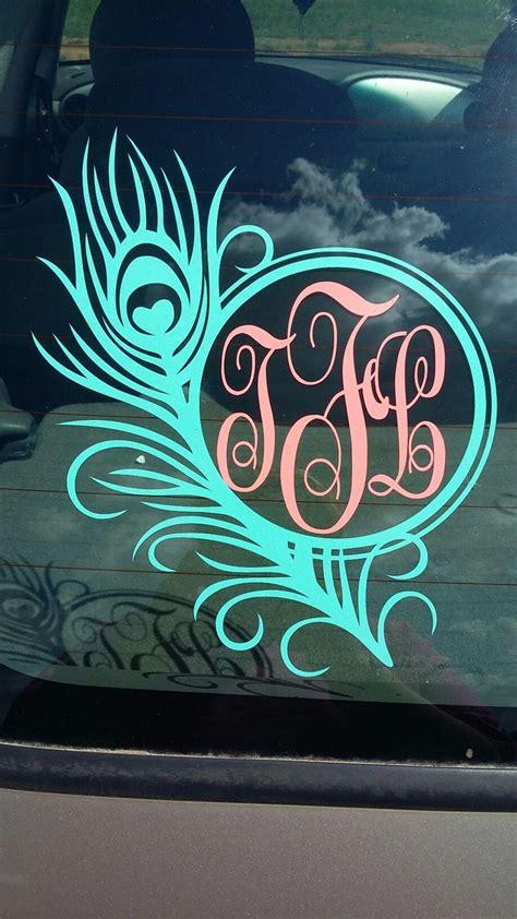 car decal car monogram decal monogram vinyl decal car