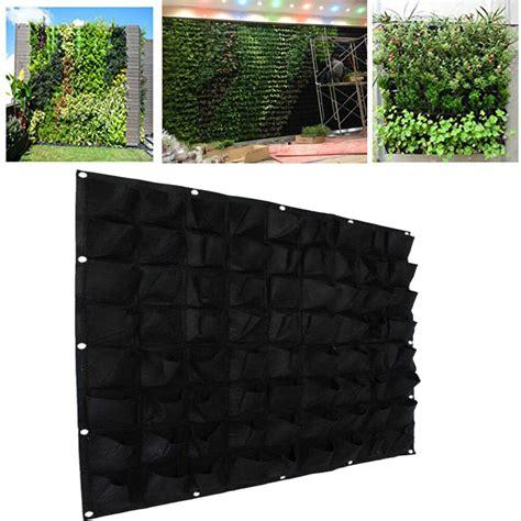 72 pockets outdoor vertical greening hanging wall garden