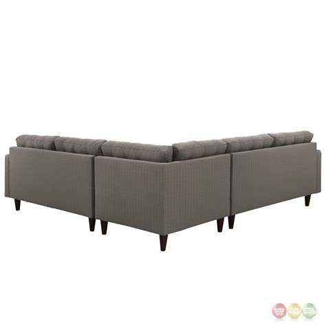 Empress 3 Piece Button Tufted Upholstered Sectional Sofa Upholstered Sectional Sofas
