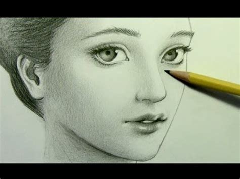 Drawing Realistic Faces by How To Draw A With A Scarf Narrated Version