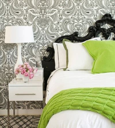 Black White Lime Green Bedroom Ideas by Black And White With Lime Green Accents Home Decor