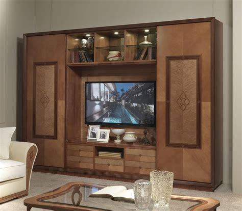 mobili in stile classico mobile porta tv con libreria in stile classico