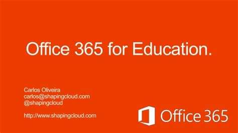 Office 365 Education Office 365 Education May