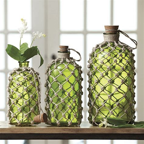 home decor with wine bottles hometalk ballard designs rope wine bottle knock off