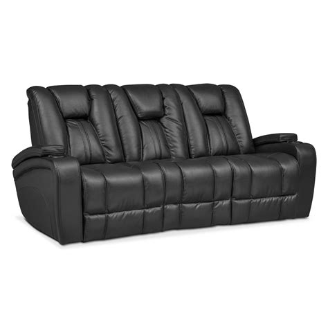 black reclining sofa and loveseat pulsar power reclining sofa power reclining loveseat and