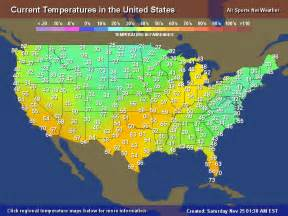 weather usa map temperature map for the united states