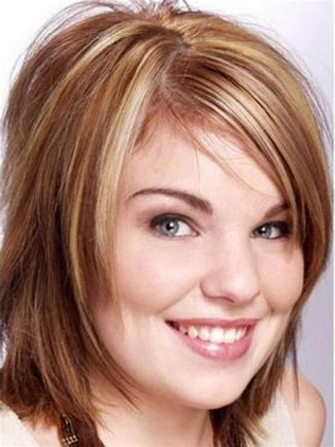 Chunky Womens Hairstyles   cute short hairstyles for fat round faces hairstyles