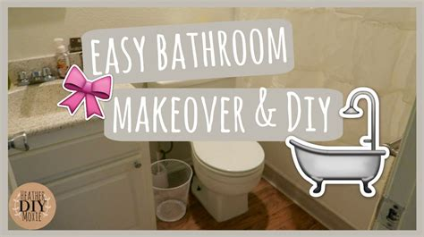 Easy Bathroom Makeovers by Easy Bathroom Makeover Diy