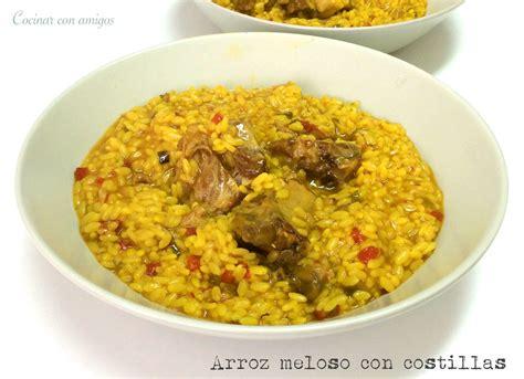 cocinar amigos cocinar con amigos arroz meloso con costillas arroz