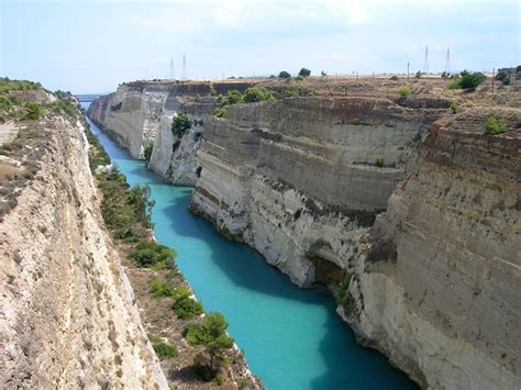 Corinth canal in korinthos