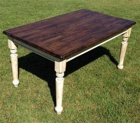 farm table refinished refinishing kitchen table pinterest