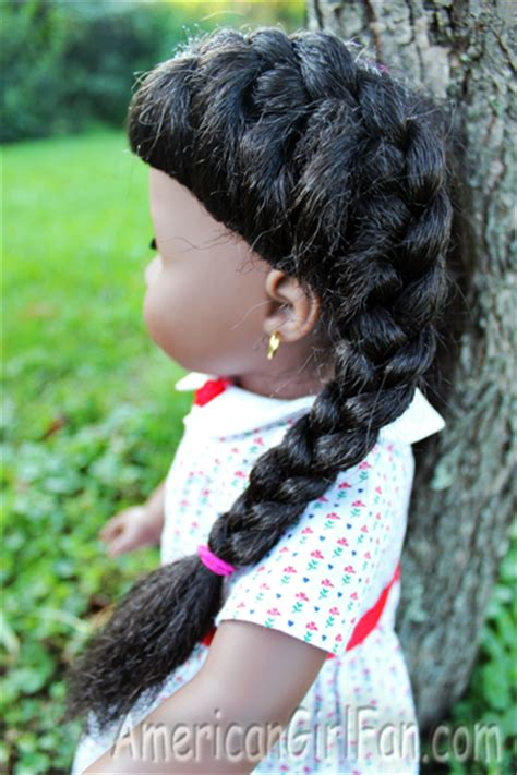 easy hairstyles for american dolls with hair and easy doll hairstyles on addy americangirlfan