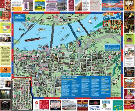 kentucky attractions map maps update 600446 tourist attractions map in louisville