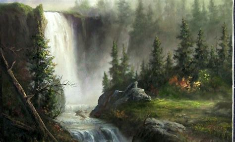 watercolor waterfall tutorial oil painting cascading waterfall paint with kevin hill