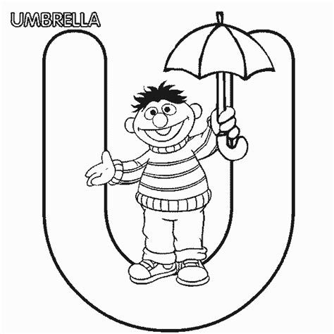 letter u coloring book coloring pages