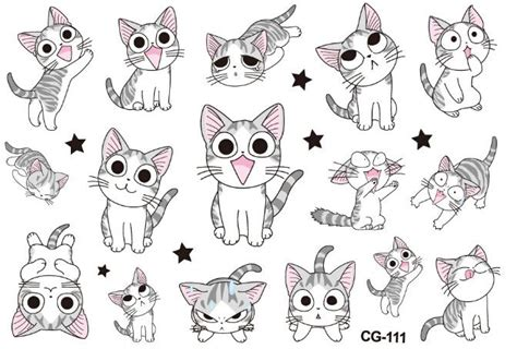 cartoon kid tattoo photo collection new adorable cat stickers