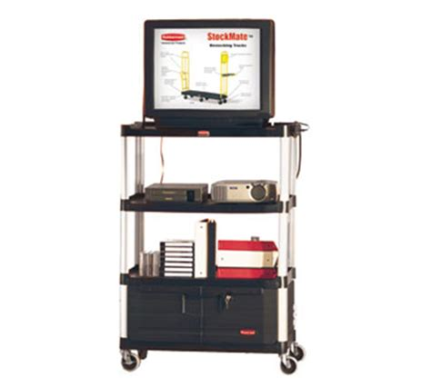 Product Integrity And Resume And Rubbermaid by Rubbermaid Fg9t3500 Bla 4 Shelf Audio Visual Cart With