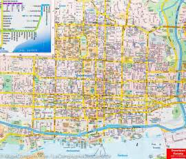 map of downtown toronto routemaster mapscompany