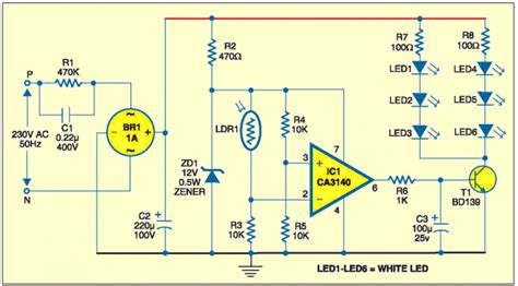 efy circuits the value of the dropper resistor for 6 leds and a supply
