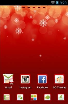 christmas themes for go launcher only christmas android theme for go launcher