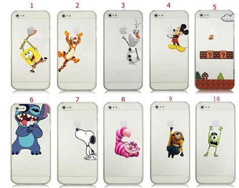 Spongebob Logo Clear Iphone Samsung Custom Casing olaf mario mickey minion stitch snoopy