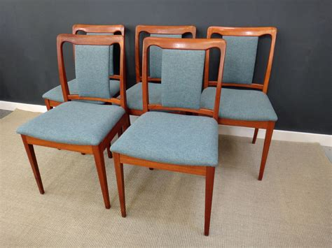 teak dining chairs upholstered set of mid century teak upholstered dining chairs