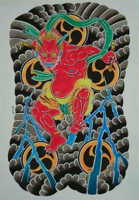 Pin Japanese God Irezumi Tattoo Flash Demon Oni Picture To Japanese Flash