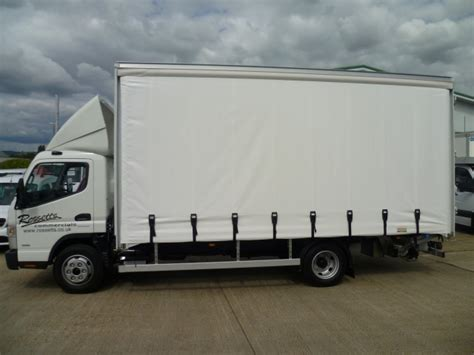 used mitsubishi offers eastborune canter 7c18 curtain sider with lift used mercedes