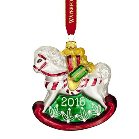 waterford baby s first christmas ornament rocking horse