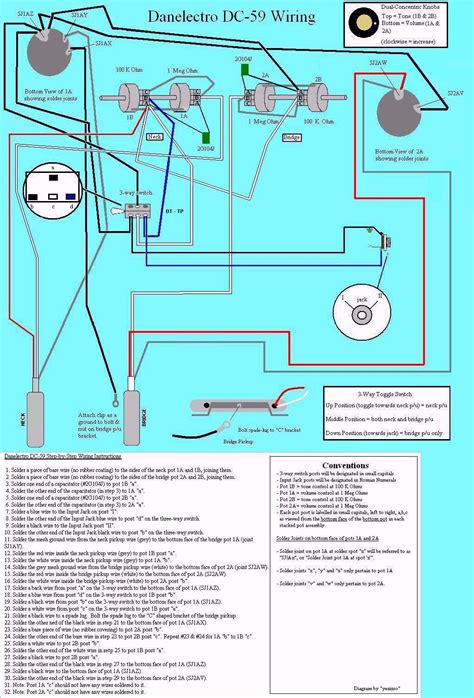 danelectro guitar schematic get free image about wiring
