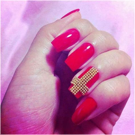 cross pattern nails stiletto nails with cross google search things to wear