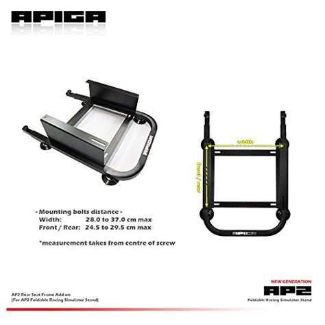 racing seat frame apiga rear seat frame add on for ap2 foldable racing