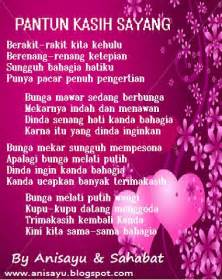 puisi cinta by anisayu pantun kasih sayang buat pacar berbalas