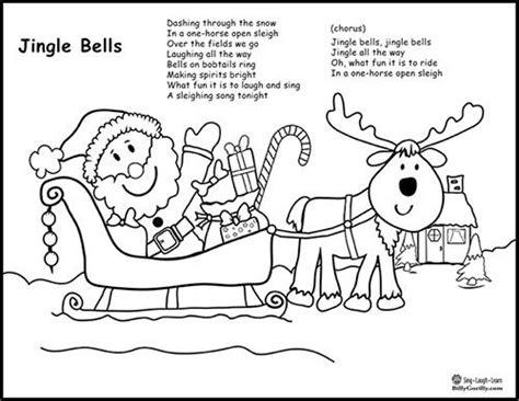 back number christmas song lyrics printable santa sleigh coloring page with jingle bells