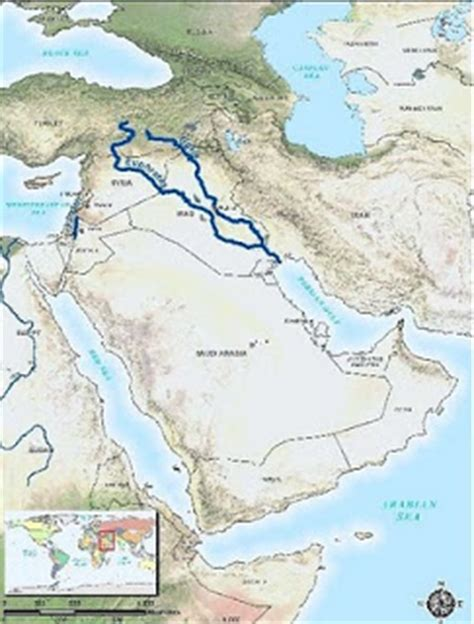 middle east map euphrates river parmionova september 2011