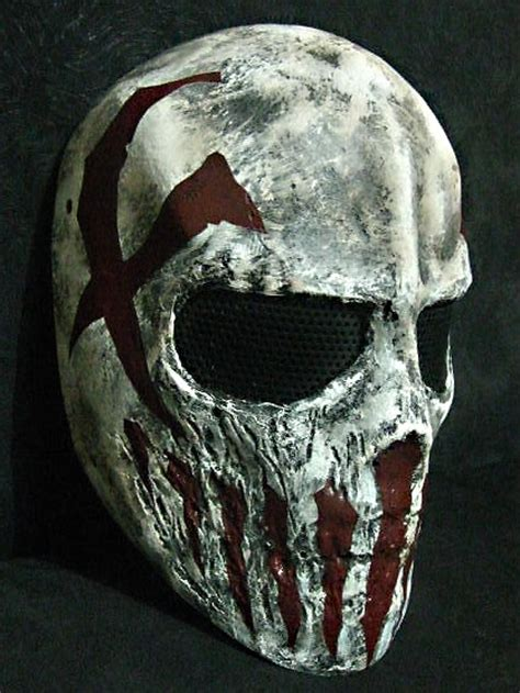 How To Make A Skull Mask Out Of Paper - it this mask is a custom mask for shooting