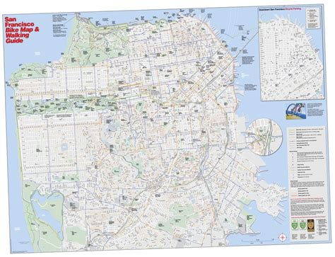 san francisco bike map san francisco bike map walking guide maplets