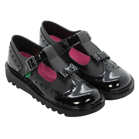 Kickers Shoes 5 kickers back to school brogue bow shoes black sizes uk 3 4 5 6 7 8 ebay