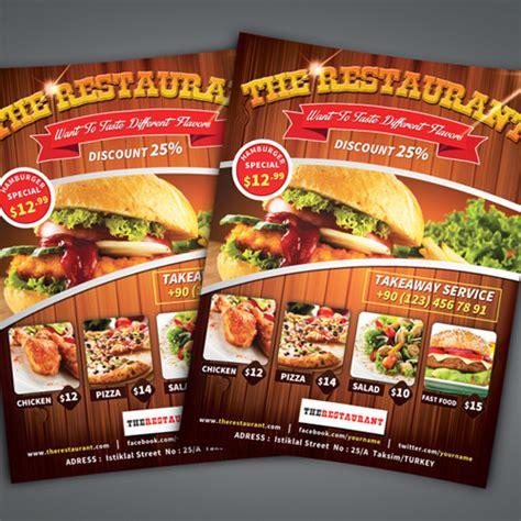 Flyer Design Inspiration Food | 50 corporate flyer design inspiration for saudi companies
