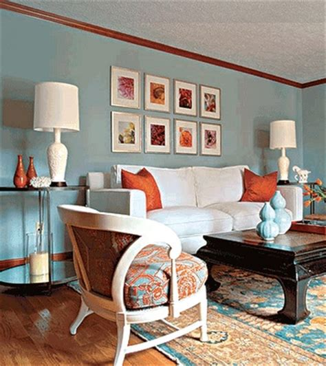 blue and orange room blue orange living room home owners pinterest
